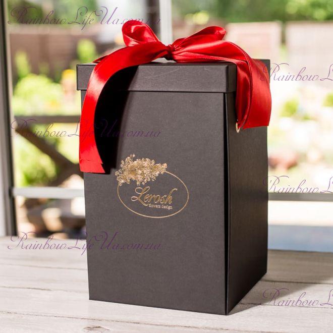 Коробка подарочная 43 см для розы в колбе