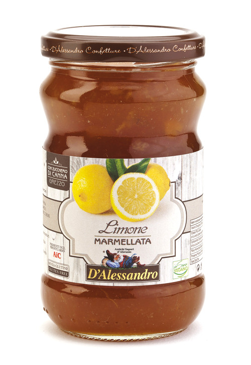 Мармеллата экстра из лимона 360 г, Marmellata extra di Limoni, D'Alessandro confetture 360 gr