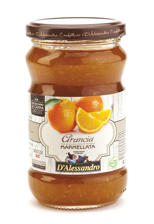 Мармеллата экстра из апельсина 360 г, Marmellata extra di arance, Confetture D'Alessandro 360 gr