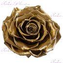"""Роза в колбе золотая 33 см """"Lux"""""""