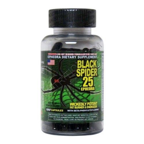 black spider 25 ephedra 100 кап