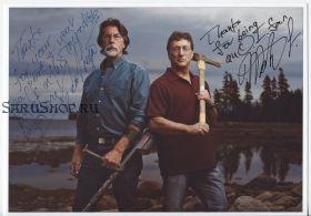 Автографы: Марти Лагина, Рик Лагина. Проклятие острова Оук / The Curse of Oak Island
