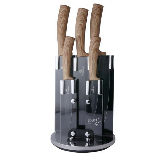 BH-2531 Ebony Maple Line Набор ножей на подставке 6 пр.