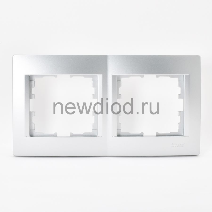 KARINA Рамка 2-ая горизонтальная б/вст матовое серебро (10шт/120шт)