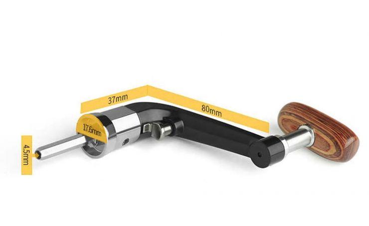 Ручка для катушки безынерционной металл/дерево большая