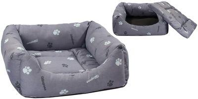 Лежак Дарэлл квадратный пухлый с подушкой для собак и кошек 42х42х15см
