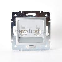 KARINA Розетка компьютерная двойная матовое серебро (10шт/120шт)