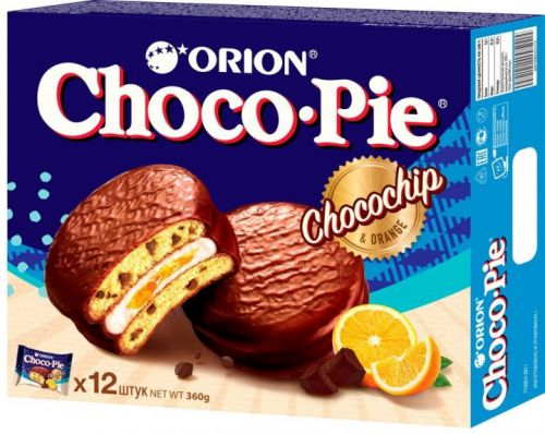 Печенье ChocoPie Апельсин12шт.