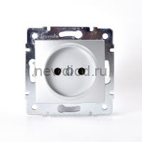 KARINA Розетка б/з керамика матовое серебро (10шт/120шт)