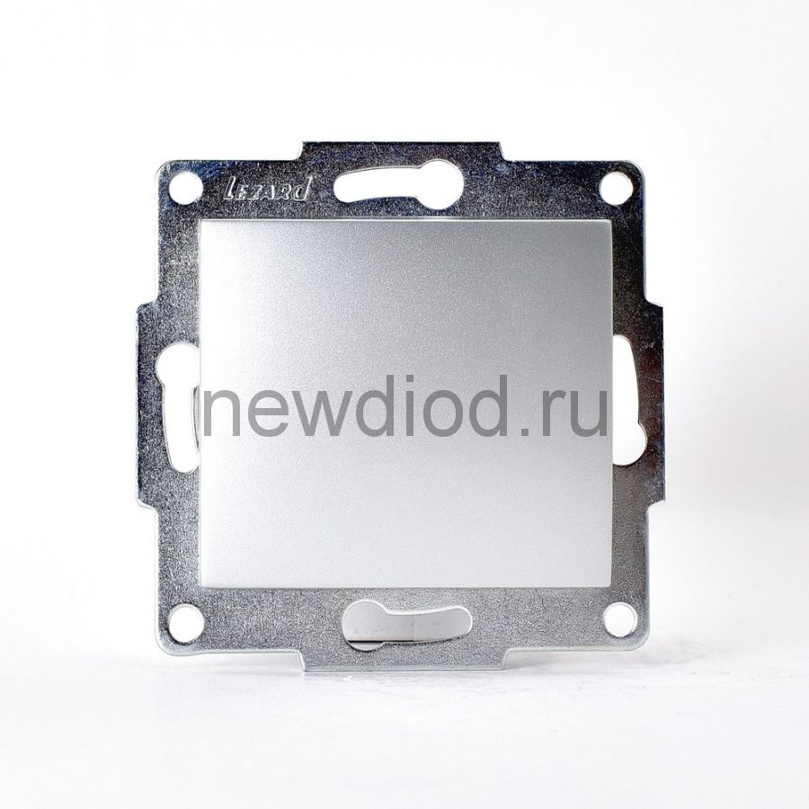 KARINA Выключатель матовое серебро  (10шт/120шт)