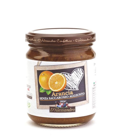 Мармеллата из апельсинов без сахара 230 г, Marmellata di Arance senza zucchero, D'Alessandro confetture 230 gr