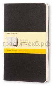 Книжка зап.Moleskine Large Cahier клетка черная QP317