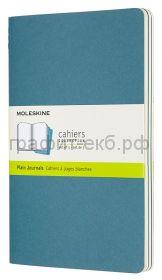 Книжка зап.Moleskine Large Cahier нелин.голубая CH018B44