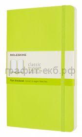 Книжка зап.Moleskine Large Soft Classic нелинованная лайм QP618C2