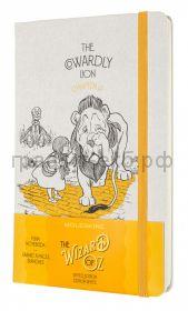 Книжка зап.Moleskine Large WIZARD OF OZ  нелинованный белый/желтый Cowardly Lion LEWOZQP062CL