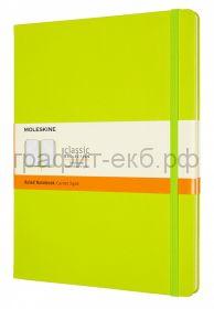 Книжка зап.Moleskine XLarge Classik линейка лайм QP090C2
