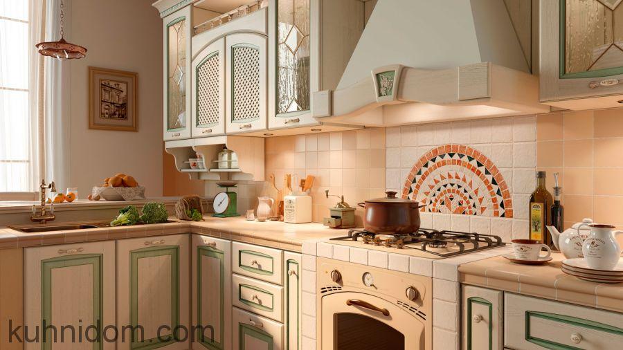 Кухня Искья Зелёная Угловая