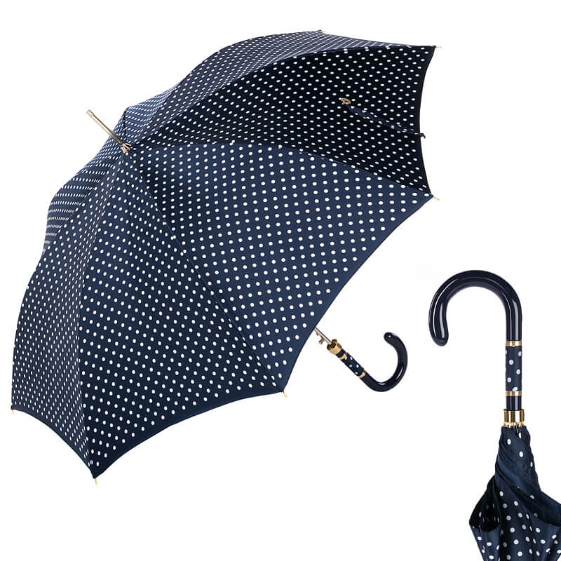 Зонт-трость Pasotti Uno Dots Blu/White Panno