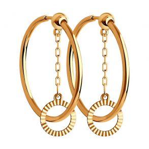 Серьги из золота с алмазной гранью 028858 SOKOLOV