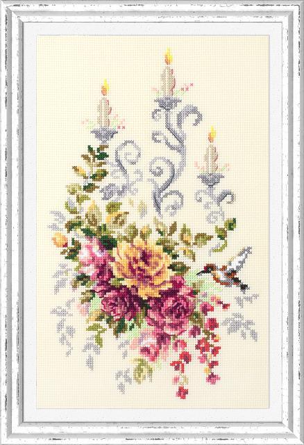 Набор для вышивания ЧУДЕСНАЯ ИГЛА Праздничный этюд (100-201)