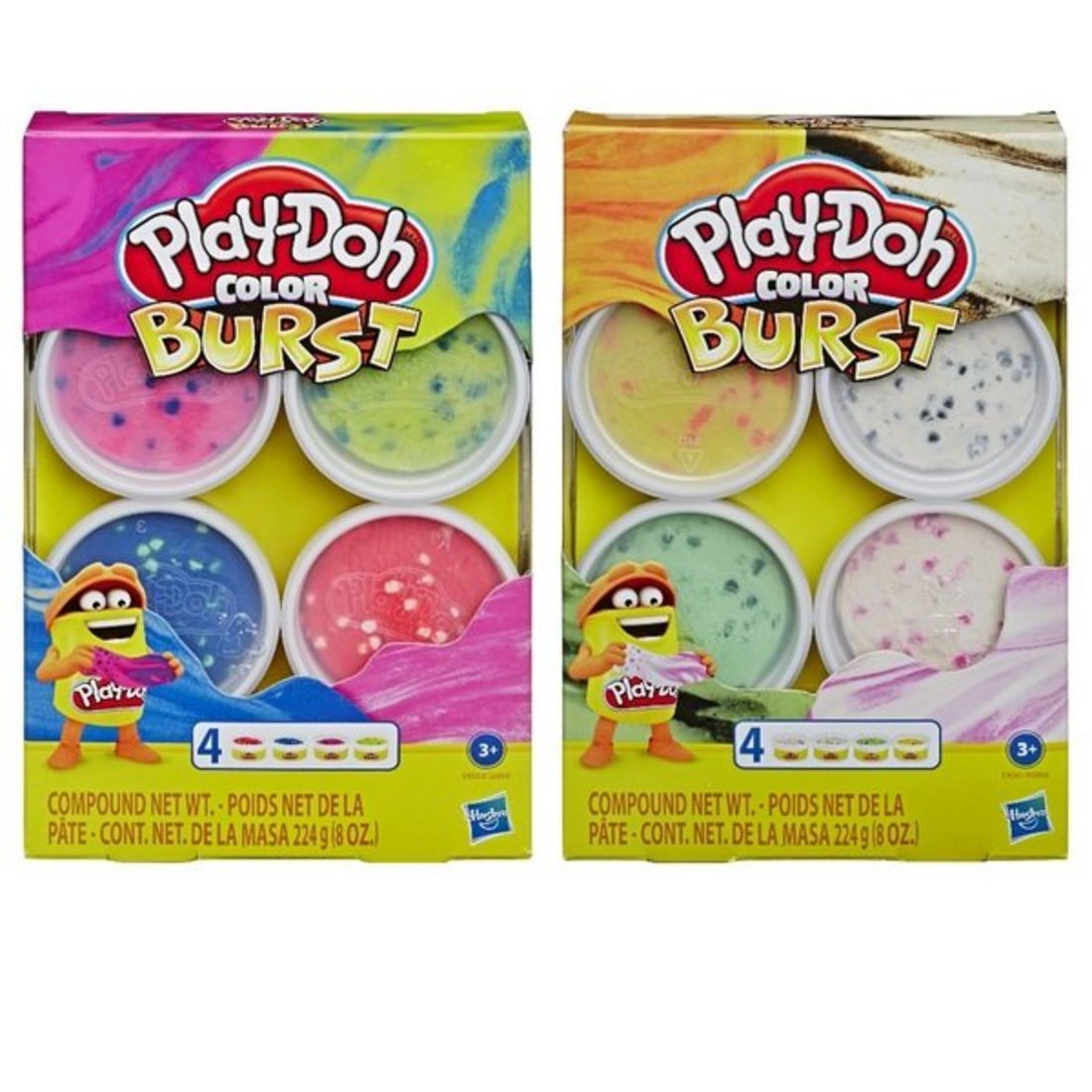 Игр. набор Play-Doh масса для лепки Взрыв цвета, в ассорт.