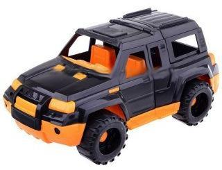 Джип Мустанг черно-оранжевый