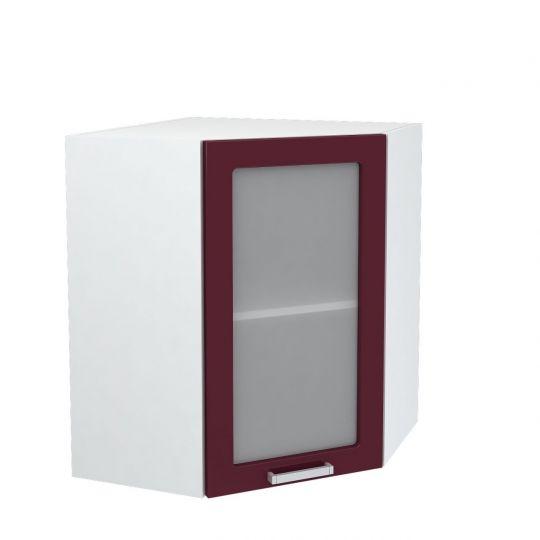 Шкаф верхний угловой со стеклом Дина ШВУС 550