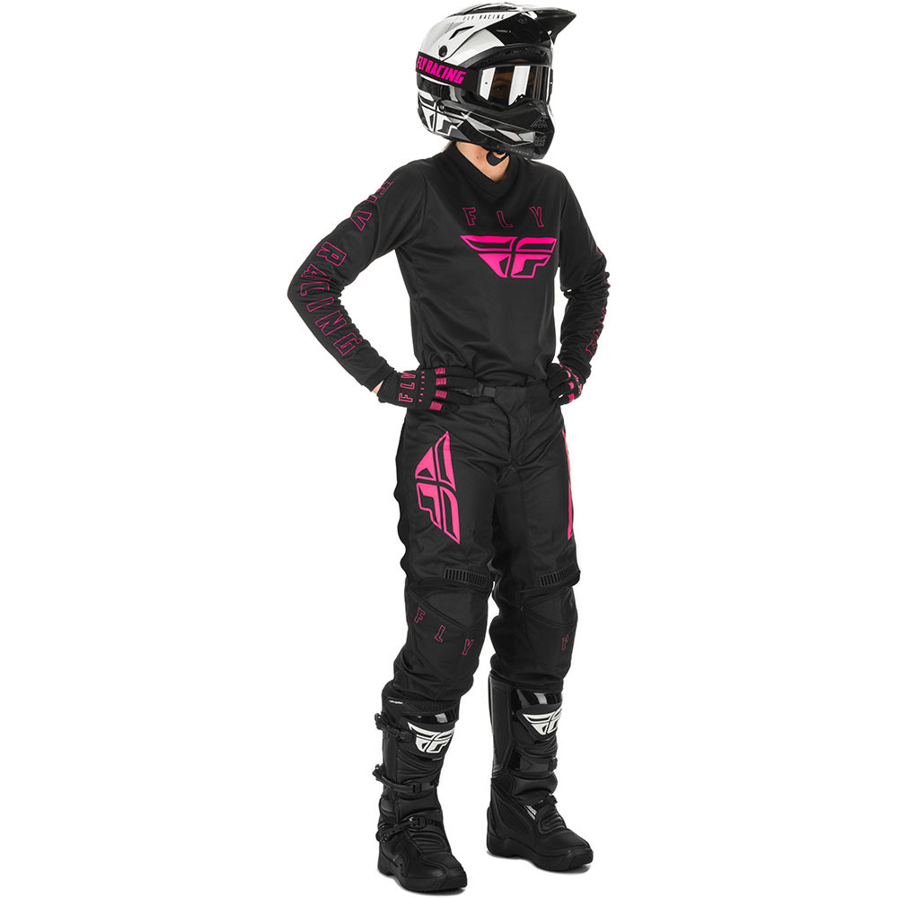 Fly Racing 2021 Women's F-16 Black/Pink  комплект штаны и джерси женский