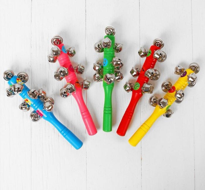Погремушка с бубенцами «Смайлики», цвета МИКС