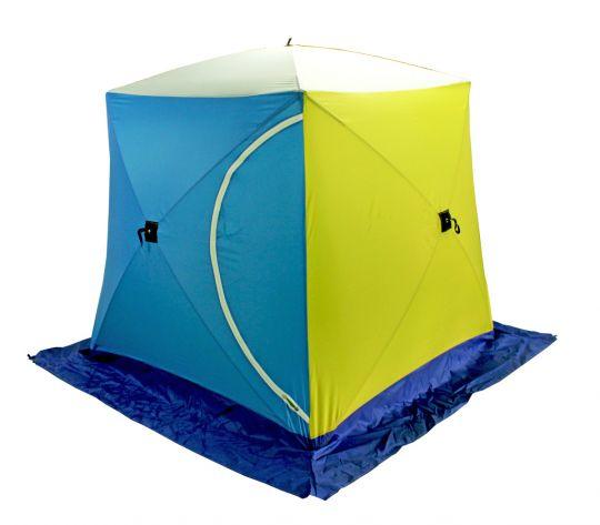 Палатка зимняя КУБ-1 Стэк трехслойная дышащая 150*150*175