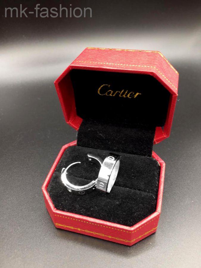Cartier серьги SILVER