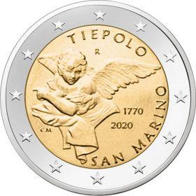 250 лет со дня смерти Джованни Тьеполо 2 евро Сан-Марино 2020