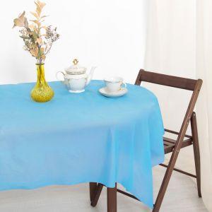 Скатерть для дачи Хозяюшка Радуга, цвет синий 137?183 см