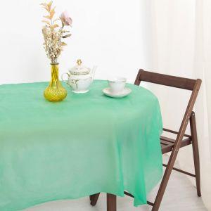 Скатерть для дачи Хозяюшка Радуга, цвет салат 137?274 см