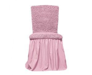 Чехол на стул с оборкой,Светло-розовый