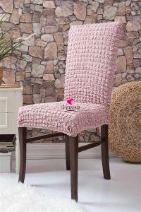 Набор чехлов для стульев 6 шт без оборки,Сухая Роза