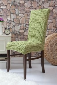 Набор чехлов для стульев 6 шт без оборки,Молодая зелень
