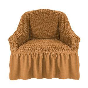 Чехол на кресло с оборкой (1шт.) К 029,Горчица