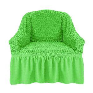 Чехол на кресло с оборкой (1шт.) К 029,салатовый