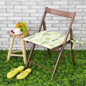 Подушка на стул уличная «Этель» Кактусы, 45?45 см, репс с пропиткой ВМГО, 100% хлопок