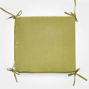 Сидушка на стул бамбук зеленый 34х34х1,5см, жаккард, поролон, пэ100% 4855566
