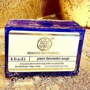 """PURE LAVENDER Soap Khadi (Мыло ручной работы """"Лаванда"""" Кхади), 125 г."""