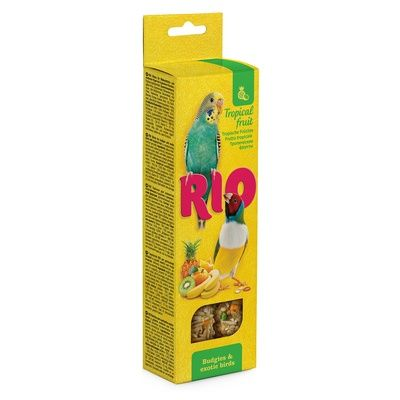 Палочки РИО для волнистых попугайчиков и экзотов с тропическими фруктами 2х40 гр