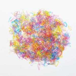 Силиконовые резинки для волос, диаметр 10 мм, ширина 1,5 мм, цвет: яркие неон (1уп = 50г ~2800шт)