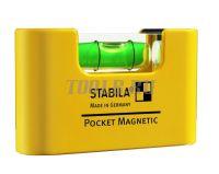 STABILA Pocket Magnetic - Строительный уровень купить. Пузырьковый уровень STABILA Pocket Magnetic цена с доставкой по России и СНГ