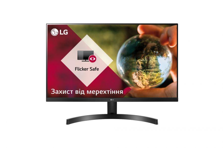 """Монитор LG 23.8"""" 24MK600M-B IPS Black; 1920x1080, 250 кд/м2, 5 мс, 2хHDMI, D-Sub"""