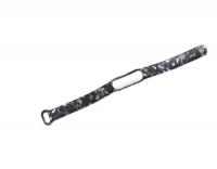 Сменный ремешок с рисунком на фитнес-браслет Xiaomi mi band 5/6 ( Черные цветы )