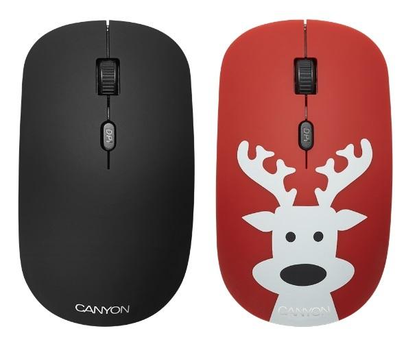 Мышь беспроводная Canyon CND-CMSW401DR Black/Red Deer USB