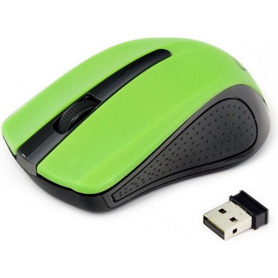 Мышь беспроводная Gembird MUSW-101-G green USB