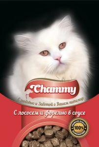 Корм д/кошек CHAMMY 85гр Пауч лосось/форель в соусе